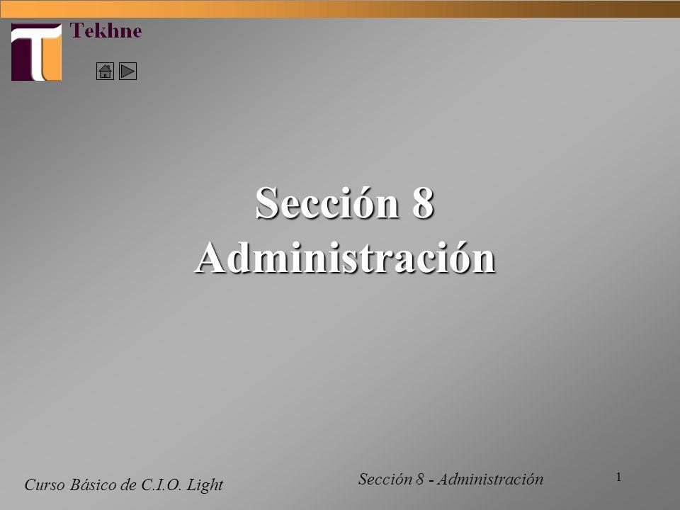 Sección 8 Administración
