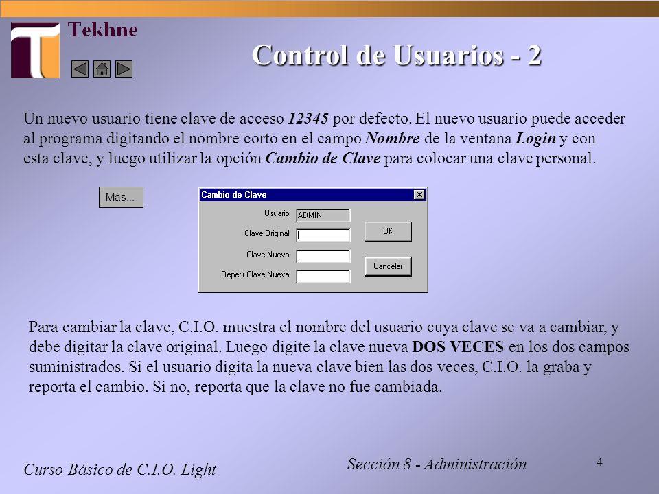 Control de Usuarios - 2