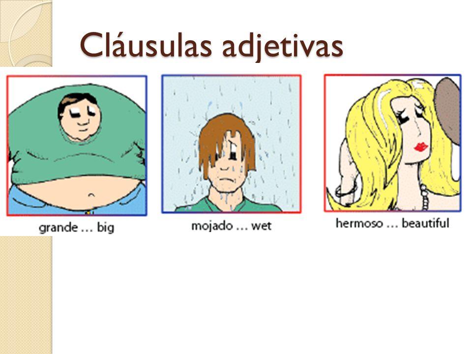 Cláusulas adjetivas