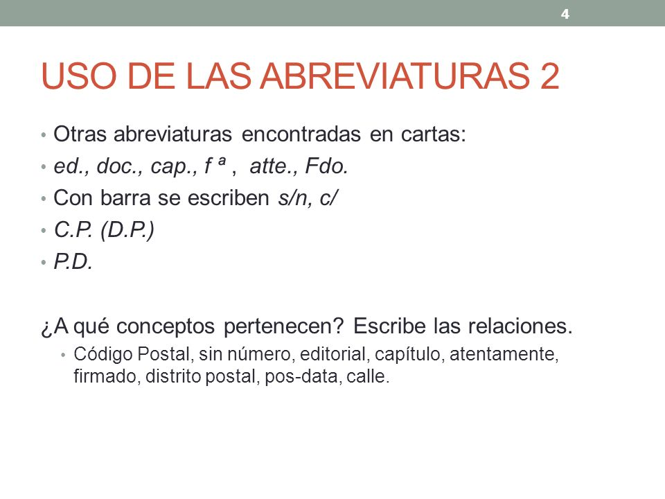 USO DE LAS ABREVIATURAS 2