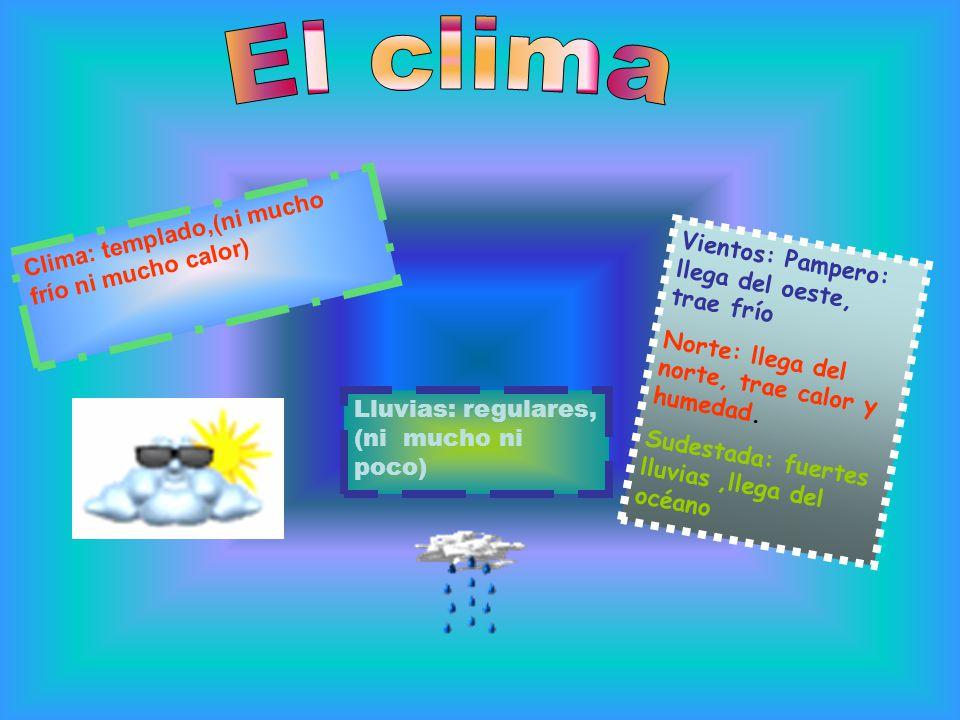 El clima Clima: templado,(ni mucho frío ni mucho calor)