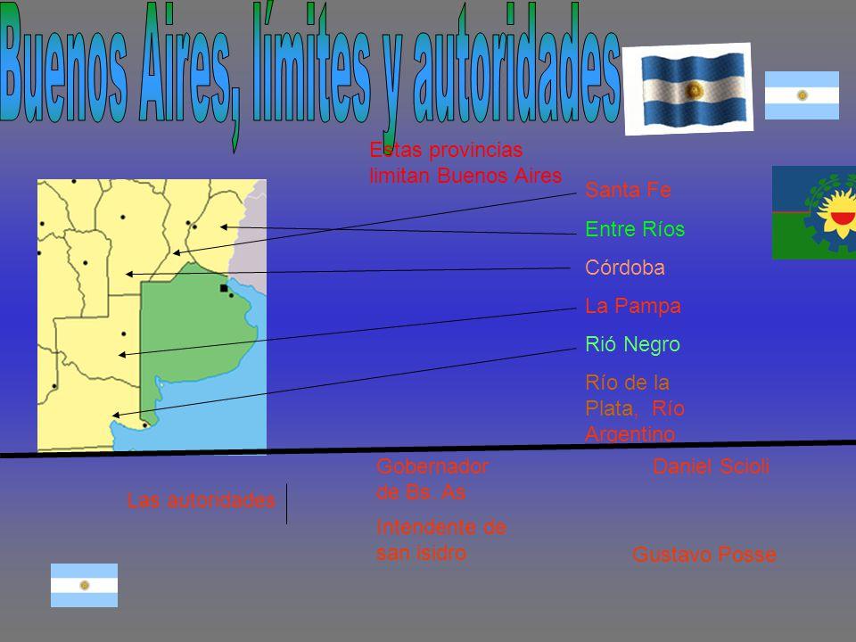 Buenos Aires, límites y autoridades
