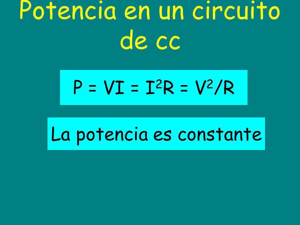 Potencia en un circuito de cc
