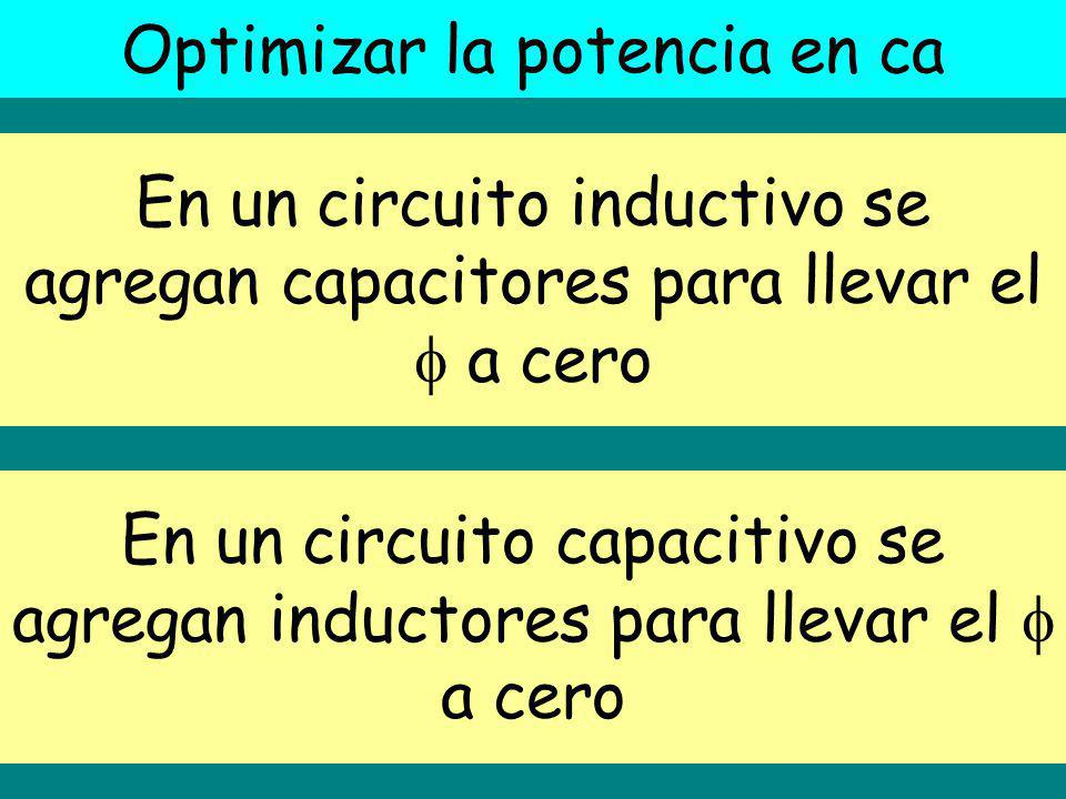 Optimizar la potencia en ca