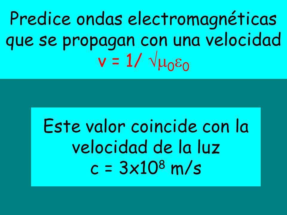 Este valor coincide con la velocidad de la luz
