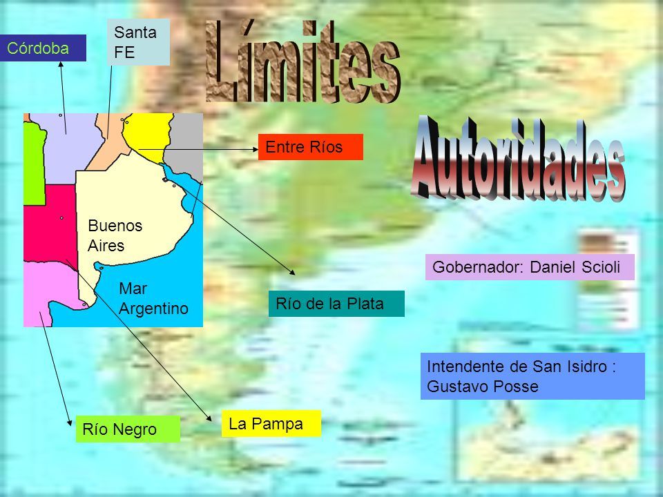 Límites Autoridades Santa FE Córdoba Entre Ríos Buenos Aires