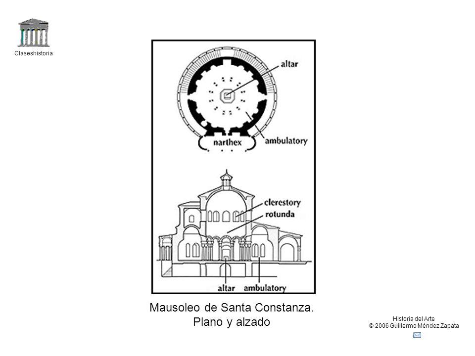 Mausoleo de Santa Constanza. Plano y alzado
