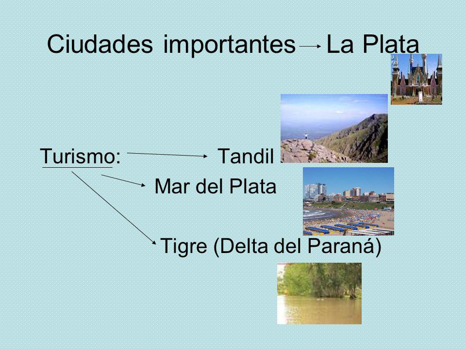 Ciudades importantes La Plata