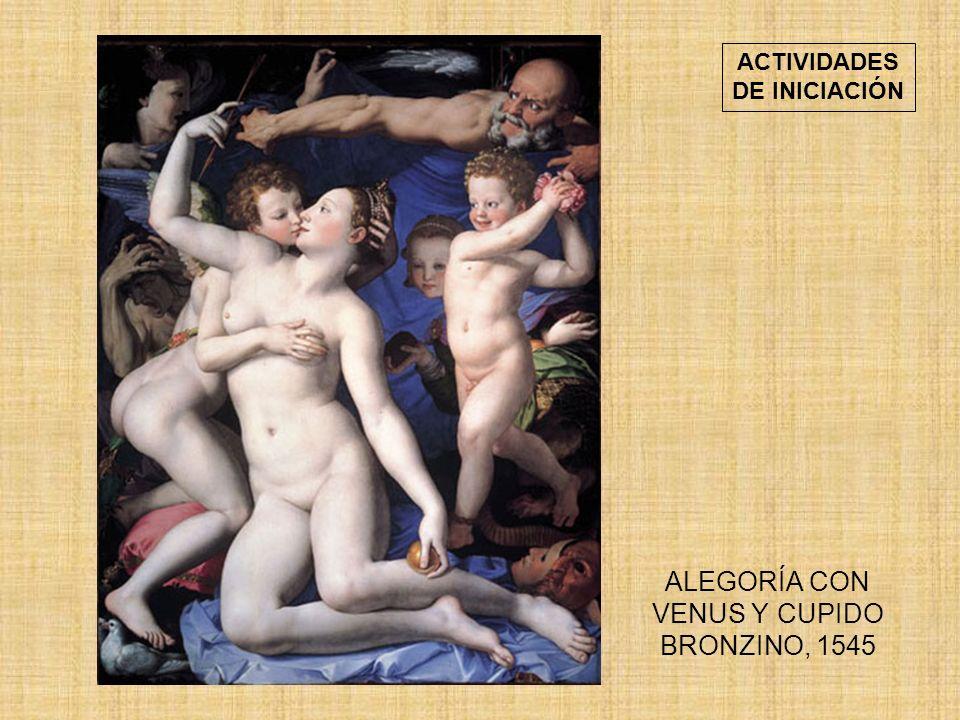 ALEGORÍA CON VENUS Y CUPIDO BRONZINO, 1545