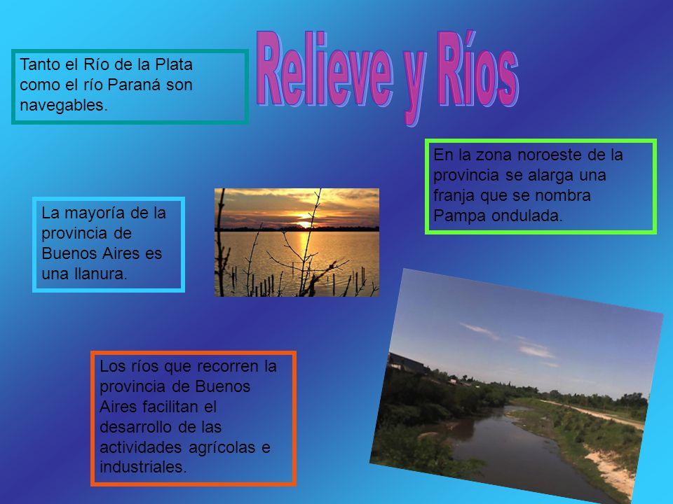 Relieve y Ríos Tanto el Río de la Plata como el río Paraná son navegables.