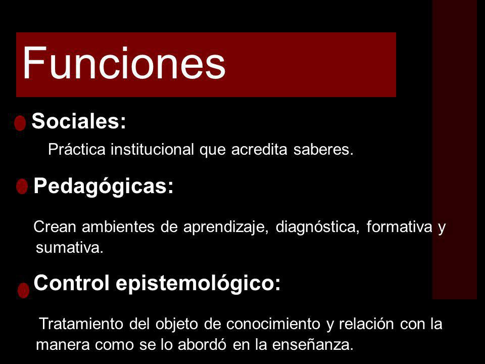 Funciones Pedagógicas: