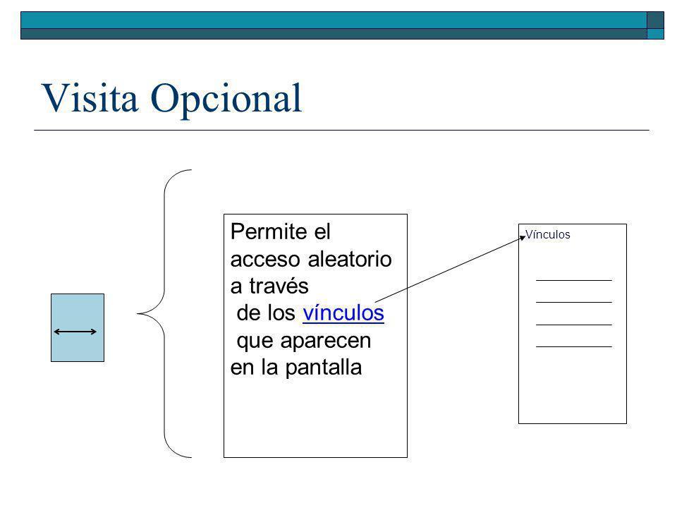 Visita Opcional Permite el acceso aleatorio a través de los vínculos