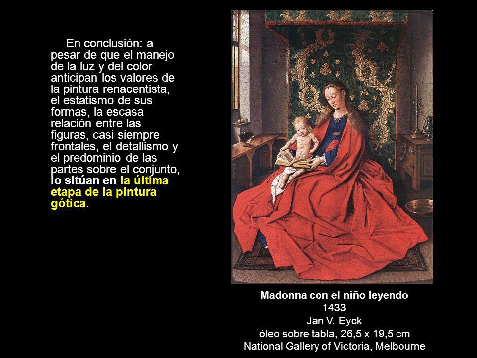 Madonna con el niño leyendo 1433 Jan V. Eyck