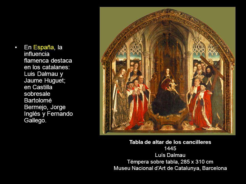 Tabla de altar de los cancilleres 1445 Luís Dalmau