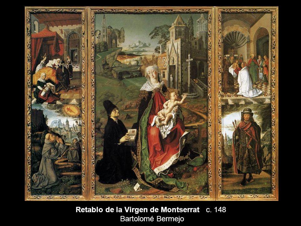 Retablo de la Virgen de Montserrat c. 148 Bartolomé Bermejo
