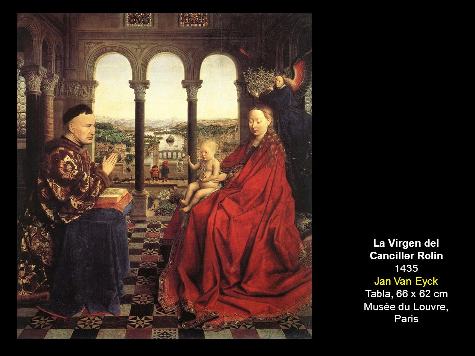 JAN VAN EYCK La Virgen del Canciller Rolin 1435 Jan Van Eyck