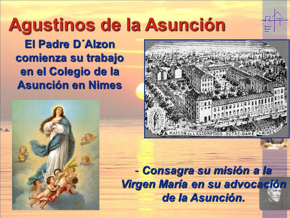 Consagra su misión a la Virgen María en su advocación de la Asunción.