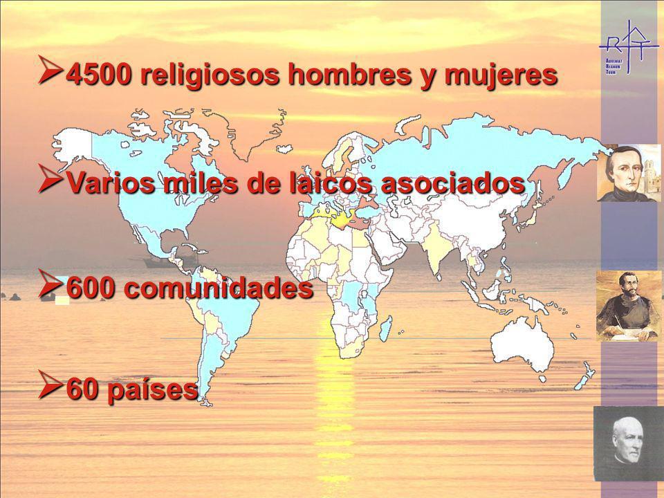 4500 religiosos hombres y mujeres