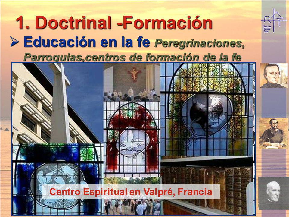 Doctrinal -Formación Educación en la fe Peregrinaciones, Parroquias,centros de formación de la fe. Peregrinación en bicicleta a Lourdes.