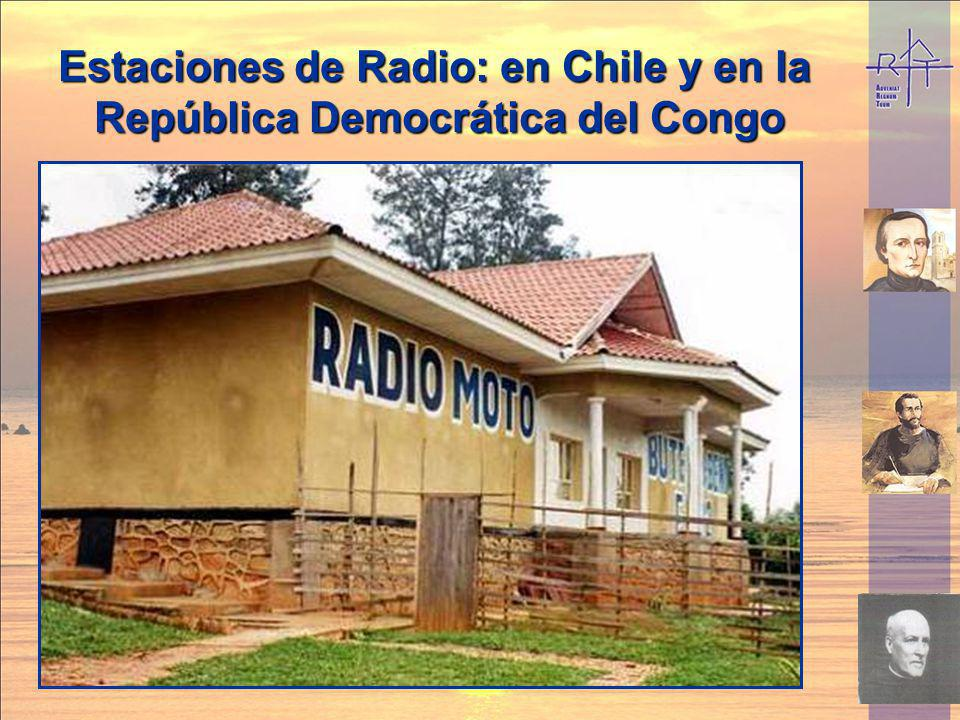 Estaciones de Radio: en Chile y en la República Democrática del Congo