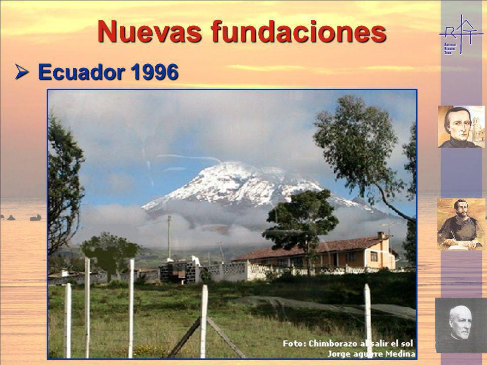 Nuevas fundaciones Ecuador 1996
