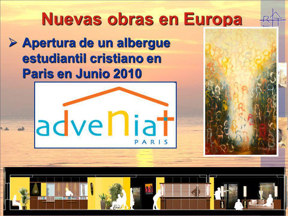 Nuevas obras en Europa Apertura de un albergue estudiantil cristiano en Paris en Junio 2010