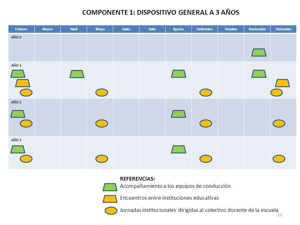 COMPONENTE 1: DISPOSITIVO GENERAL A 3 AÑOS