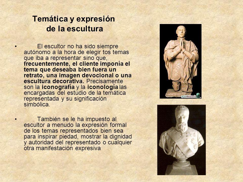 Temática y expresión de la escultura
