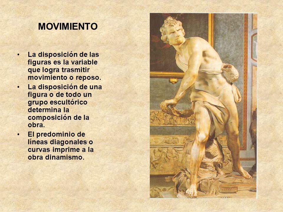MOVIMIENTO La disposición de las figuras es la variable que logra trasmitir movimiento o reposo.