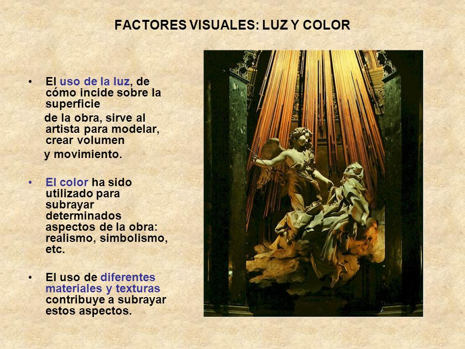 FACTORES VISUALES: LUZ Y COLOR