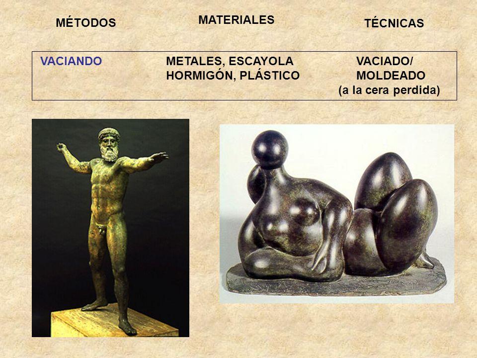 MATERIALESMÉTODOS. TÉCNICAS. VACIANDO METALES, ESCAYOLA VACIADO/