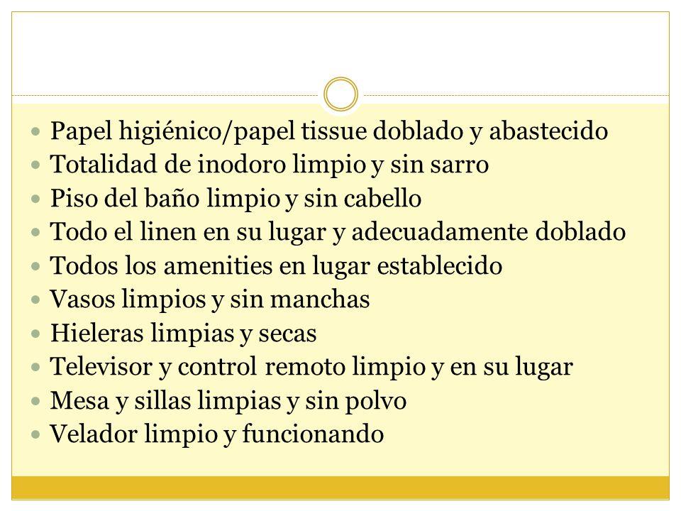 Papel higiénico/papel tissue doblado y abastecido