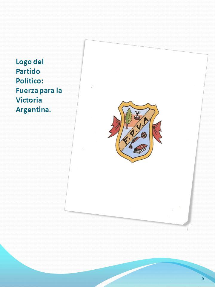 Logo del Partido Político: Fuerza para la Victoria Argentina.