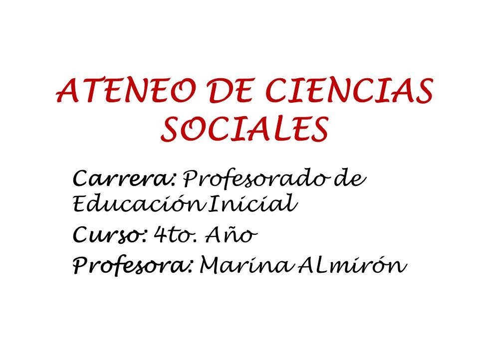 ATENEO DE CIENCIAS SOCIALES