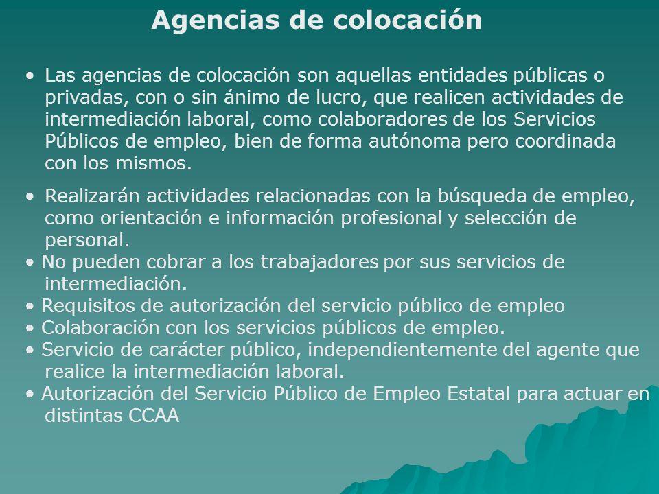 Agencias de colocación