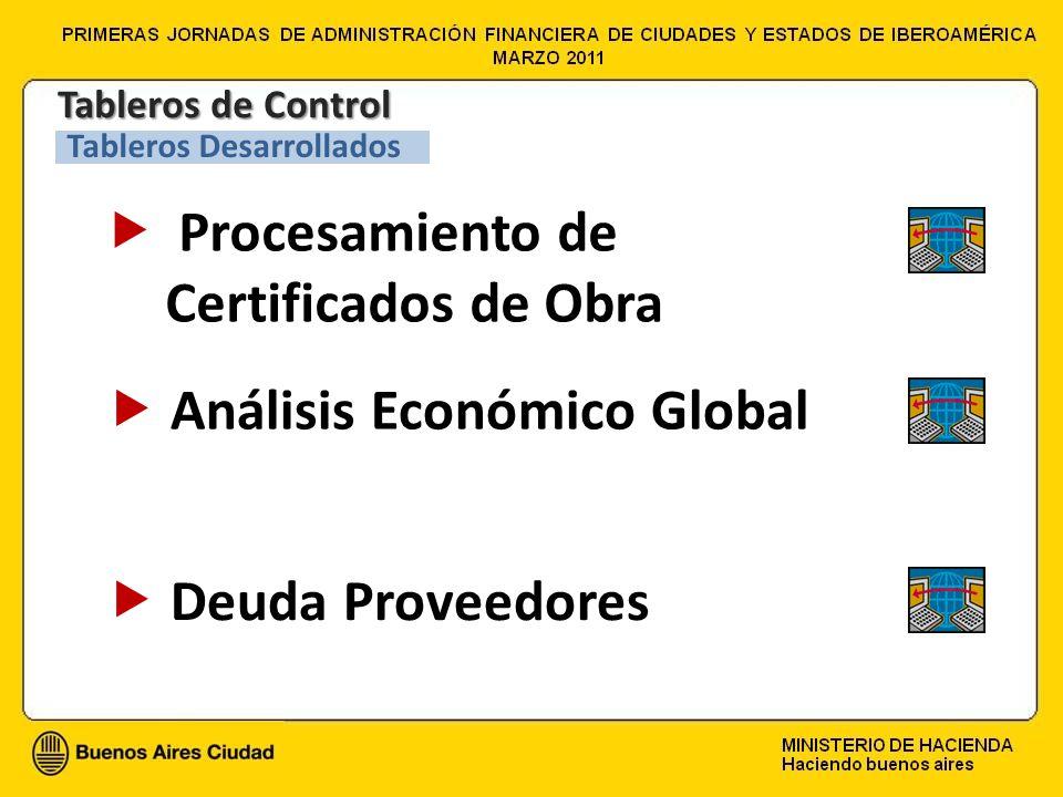 Procesamiento de Certificados de Obra