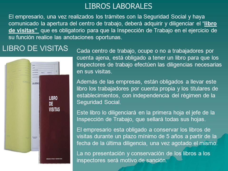 LIBROS LABORALES LIBRO DE VISITAS