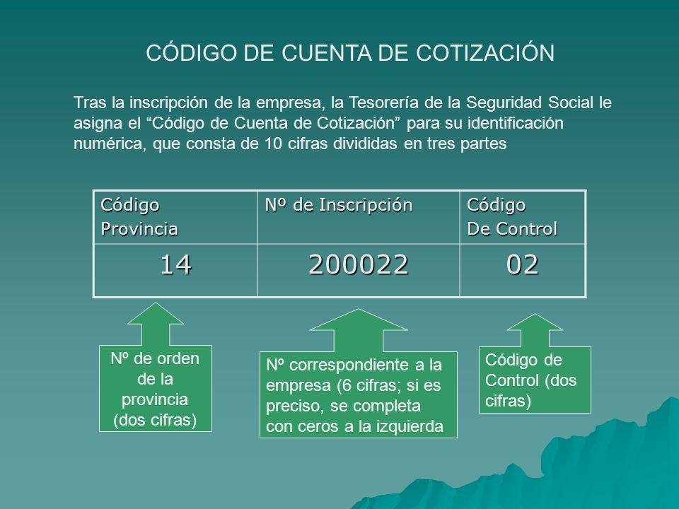 14 200022 02 CÓDIGO DE CUENTA DE COTIZACIÓN