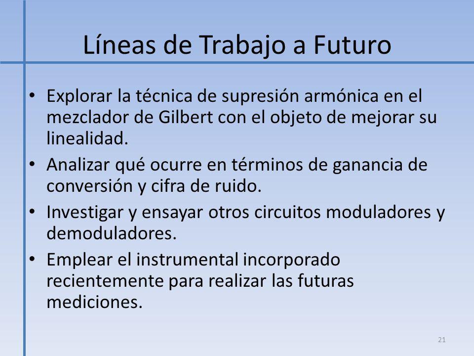 Líneas de Trabajo a Futuro