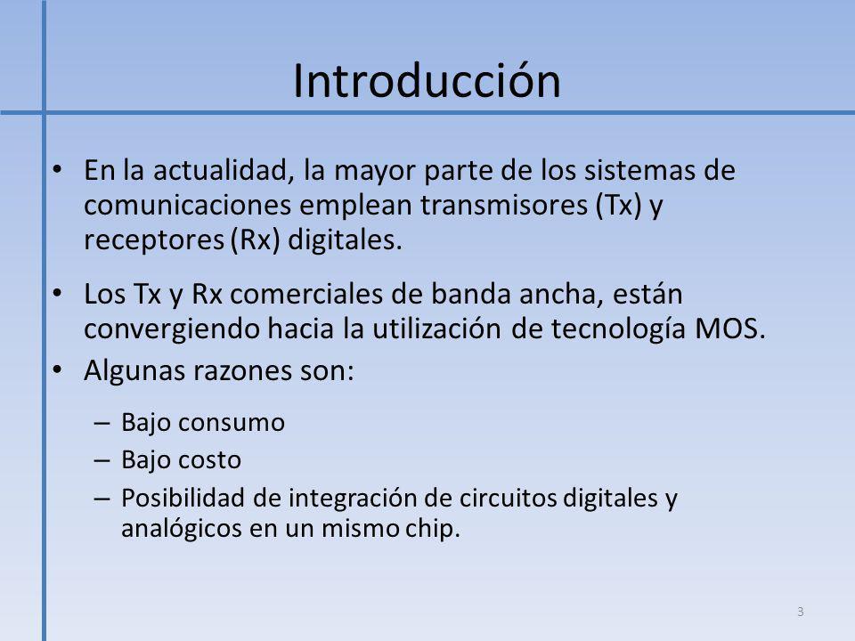 Introducción En la actualidad, la mayor parte de los sistemas de comunicaciones emplean transmisores (Tx) y receptores (Rx) digitales.