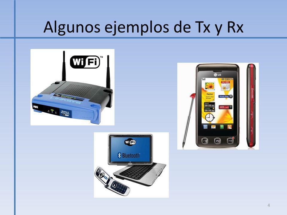 Algunos ejemplos de Tx y Rx