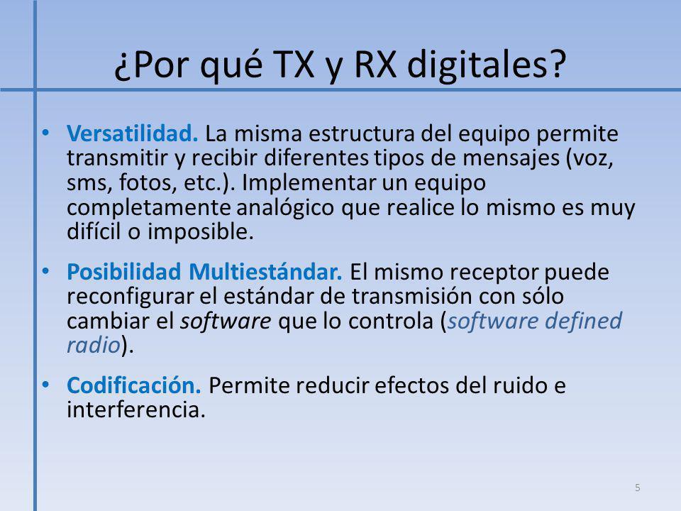 ¿Por qué TX y RX digitales