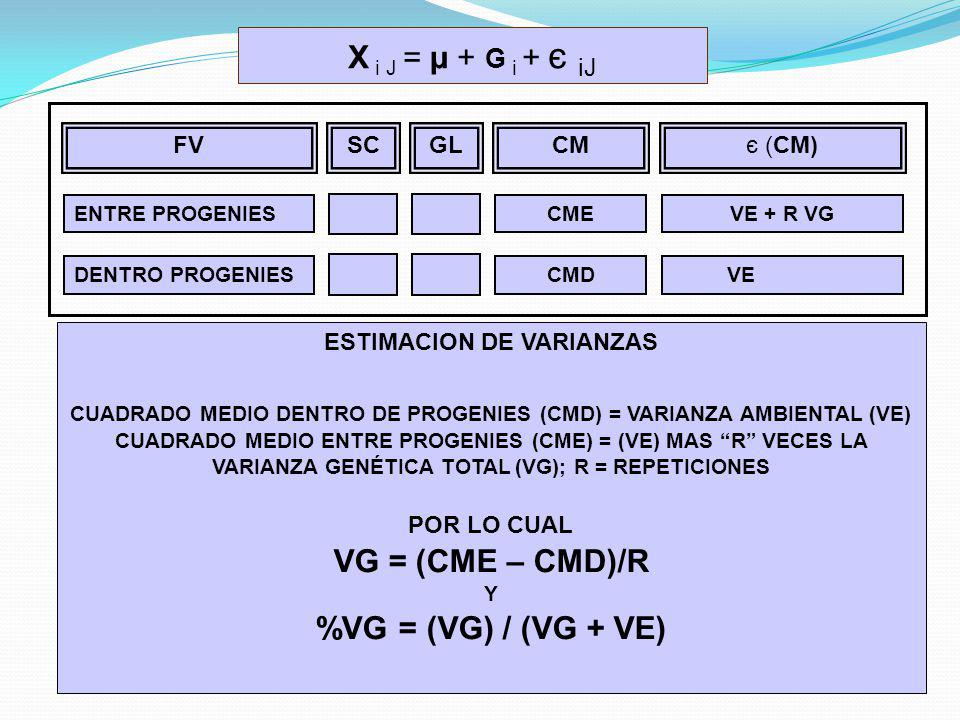VG = (CME – CMD)/R %VG = (VG) / (VG + VE)