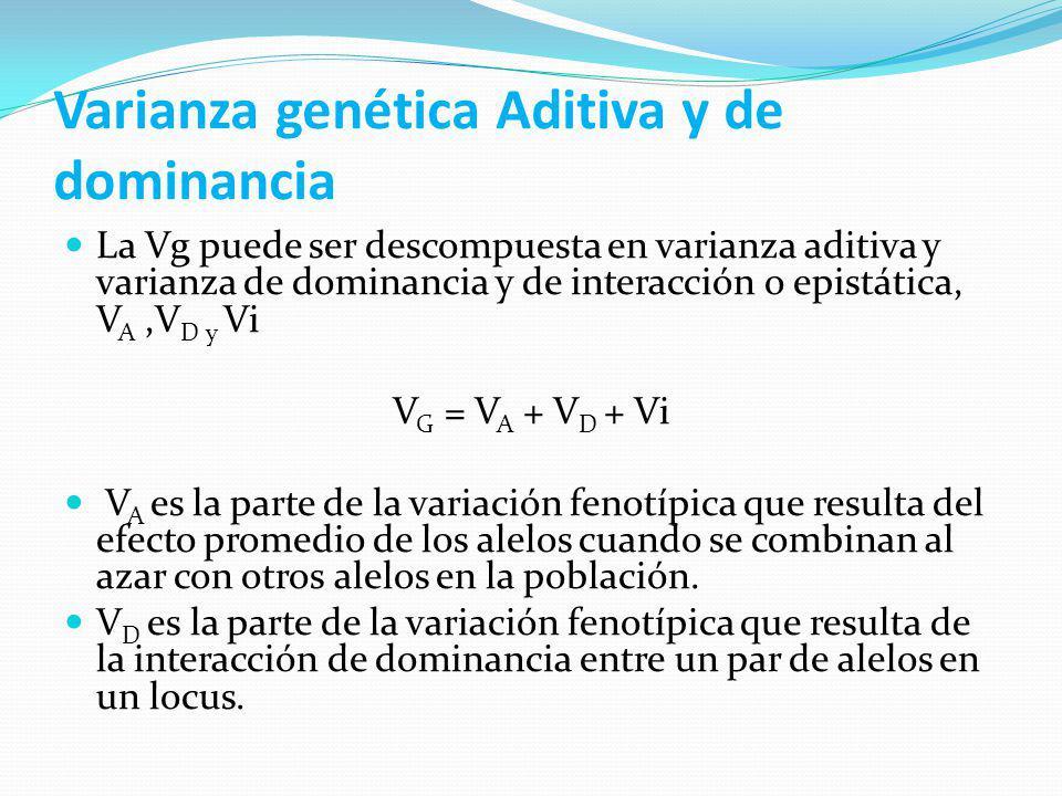 Varianza genética Aditiva y de dominancia