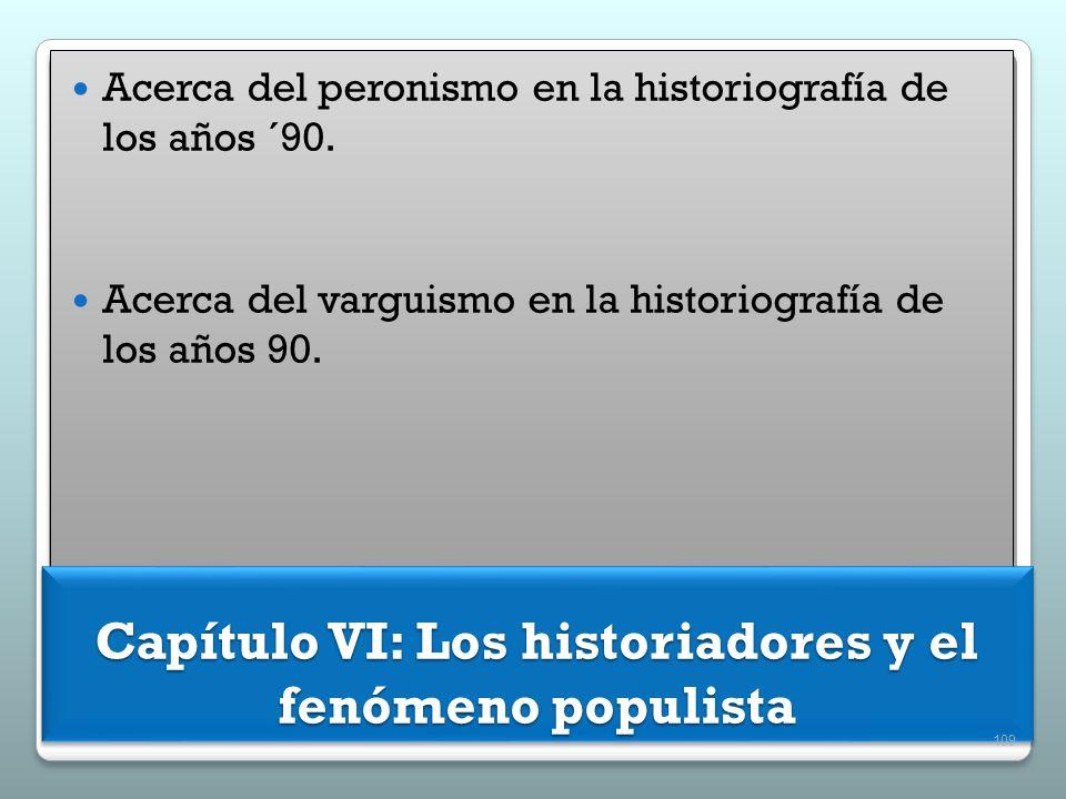 Capítulo VI: Los historiadores y el fenómeno populista