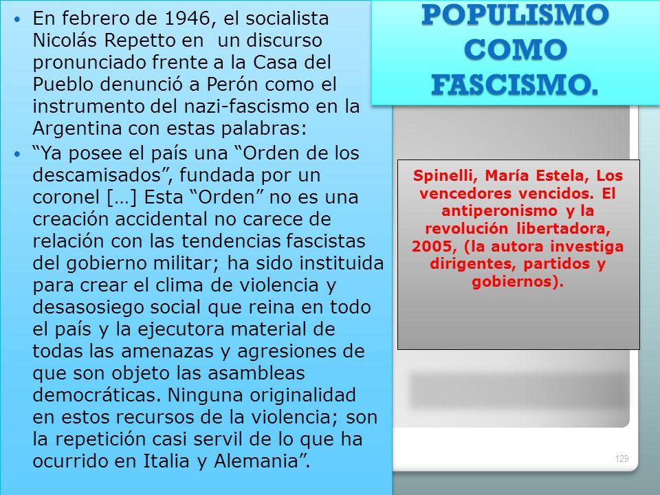 POPULISMO COMO FASCISMO.