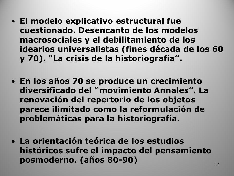 El modelo explicativo estructural fue cuestionado