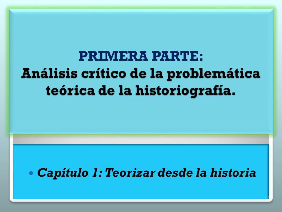 Capítulo 1: Teorizar desde la historia