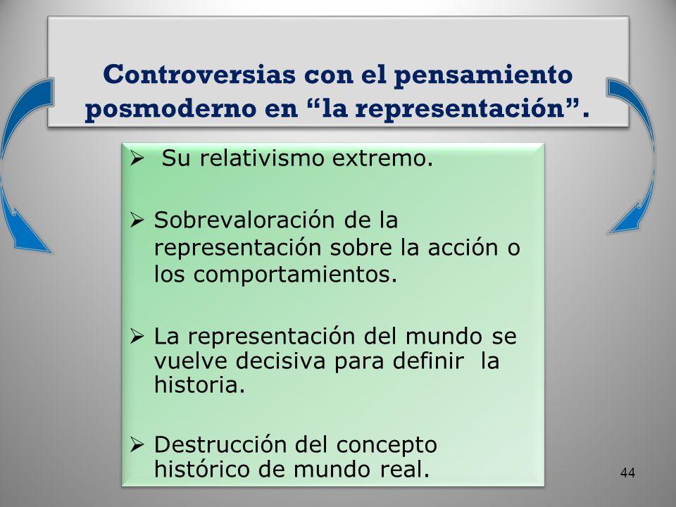 Controversias con el pensamiento posmoderno en la representación .