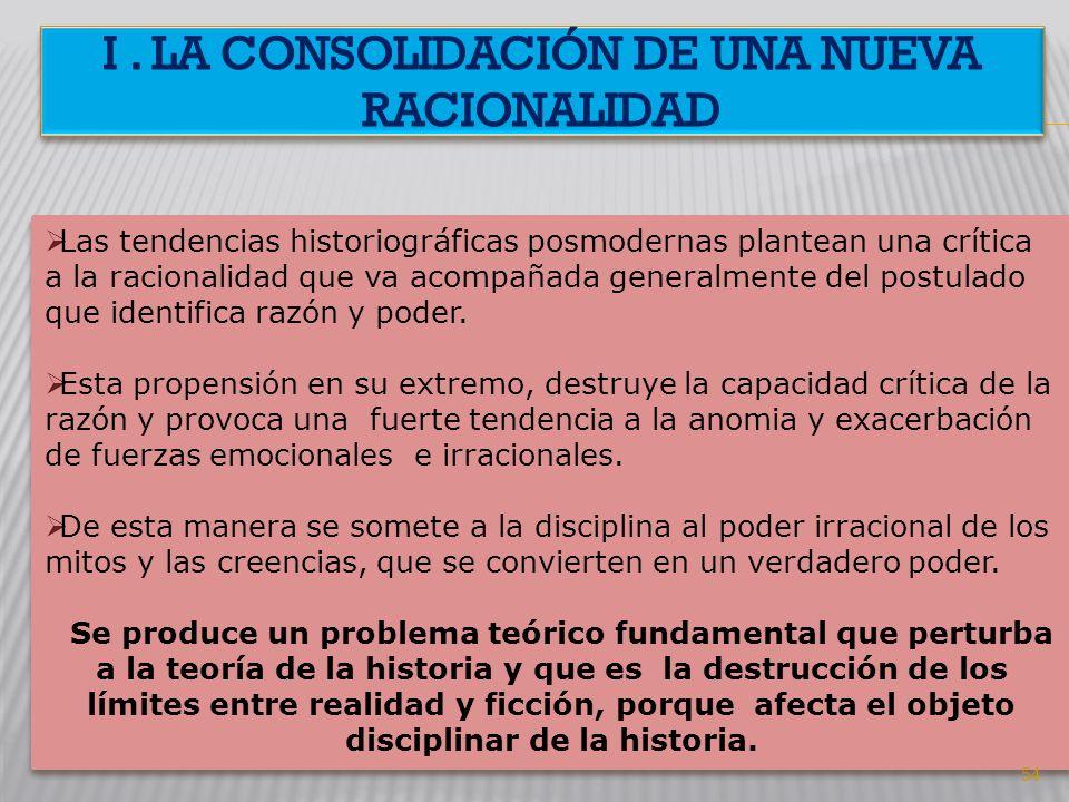I . la consolidación de una nueva racionalidad